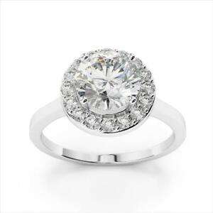 1.77 Ct Solitaire Diamond Engagement Wedding Ring Solid Gold Anniversary Rings