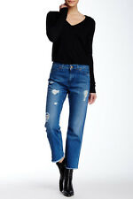 NWT $233   MIH  Size 28  JANE JEAN  MID RISE CROPPED LEG  DISTRESSED  HOT!!!