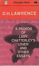 A Propos of Lady Chatterley's Lover and other Essays - DH Lawrence - Vintage 61
