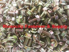 (100) M6-1.0 x 12 / M6x12 Metric Hex Flange Bolts Grade 10.9 DIN 6921 ZY