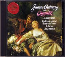 James Galway: Quantz 4 Flute Concerto Jörg Faerber RCA CD 1991 flautí concerti
