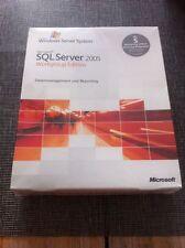 MS SQL Server 2005 Workgroup Edition inkl. 5 Clients, Deutsch mit MwSt Rechnung