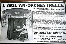 PUB AD 1913 Aeolian orchestrelle Orgue piano illustré Ehrmann
