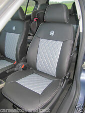 Vauxhall Astra III H 2004-2014 Tailored Measure Seat Covers Faux Black Grey