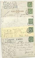 ! 1913 x 5 BRIDLINGTON PPCs WITH SKELETON POSTMARKS DATED IN AUGUST YORKSHIRE