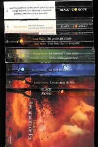 """Lot N° 48 de six livres Harlequin Black Rose """" En état correct """""""