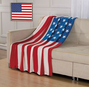50x40 Inches American USA Trump Flag Flannel Fleece Throw Blanket Soft Warm Cozy Lightweight Kids Toddler Pet Blanket for Sofa Bed Office Adults Shoulder /& Lap