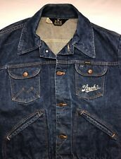 Vintage Women's S/M 70s Maverick Stroh's Sanforized Denim Jean Jacket Coat Sz 46