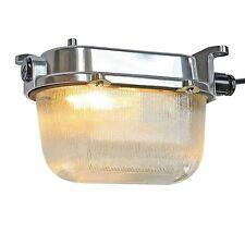 Original Factory Lamp Bunker Old Antique Polished Industrial Design Ex Light