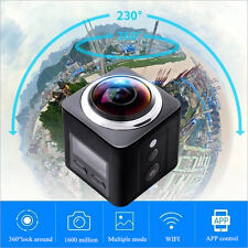 New Sports Action Camera QHD 1440P Panoramic 360 Degree DVR Camcorder Waterproof