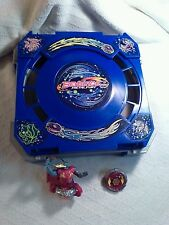 "Beyblade Metal Fury Blue 12"" Folding Travel Battle Arena Stadium carry case Lot"