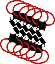 waterproof car audio and video 10 wire gauge fuses ebay 4 Gauge Inline Fuse heavy duty 10 gauge red color wire 30 in line fuse holder waterproof lid