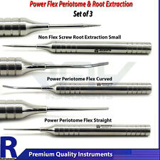 3Pcs Dental Periodontal Implant Instrument Extraction Screw & Flex Periotome Kit