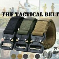 Tactical Belts Nylon Military Belt Metal Buckle Heavy Training Waist Belt Men