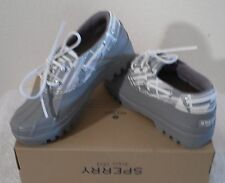NIB Sperry Top-Sider Heron Womens Rain Shoes Boots 5 Grey MSRP$70