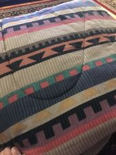 Queen Size Comforter Southwestern Indian Style Print Tan/Blue/Pink (Bl)