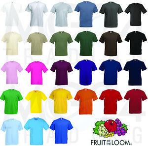 10x Fruit of the Loom T-Shirt Shirt TShirt Set Gr  S M L XL XXL sofort verfügbar