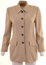 ESCADA Womens Blazer Jacket Size 36 Small Brown Wool  S218