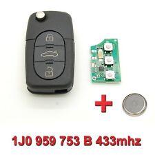 Clé avec électronique vierge Volkswagen Polo Passat Golf 1J0 959 753 B 433mhz