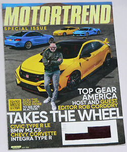 Motor Trend Magazine, July 2021:  features Top Gear America host Rob Corddry