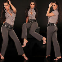 Sexy Women Classic Office Trousers Ladies Black Clubbing Jeans Sizes 8 10 12 14