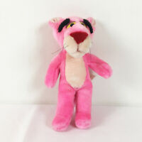 "A132 Vintage Pink Panther Cat Plush 11"" Stuffed Toy Lovey"