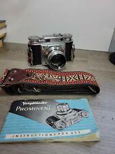 VOIGTLANDER PROMINENT, 50/1.5 NOKTON Lens,Strap,Manual. See Pics Untested