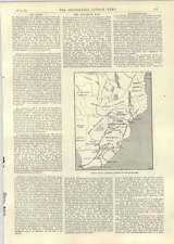 1893 The Matabele War South African Map Building Police Huts