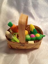 "Doll Accessory - Basket of fruits & vegetables fits American Girl/ all 18 "" doll"