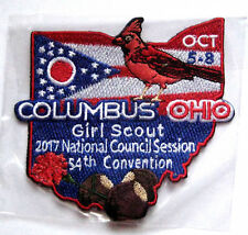 Girl Scout 2017 54rd National CONVENTION PATCH Columbus, Ohio Cardinal NEW Badge