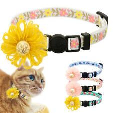 Cute Embroidered Pet Dog Cat Breakaway Collar Safety Kitten Quick Release Buckle