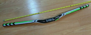 CARBON FIBER Bicycle Handlebar Mountain Bike 720 SHARK GREEN 31.8mm Curved Riser