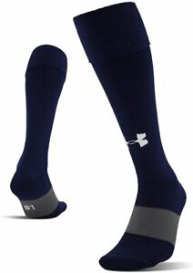 Under Armour Soccer Football Socks, Over the Calf, Shoe Size 4-8.5 Navy Blue L25