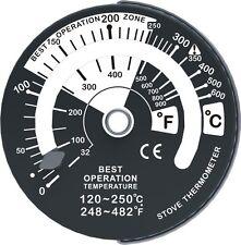Ecoflow stove thermometer for log burner wood burning stove magnetic
