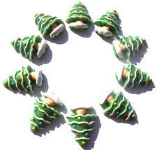 10 CHRISTMAS TREE FLATBACK KITCH CABOCHONS RESIN DECODEN - FAST SHIPPING