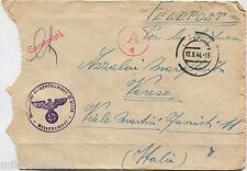 FELDPOST M 81226 (BTG. NEBBIOGENO) HAMBURG, ANNULLO SET 1944     m