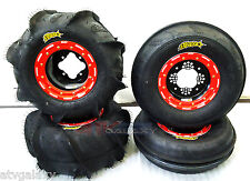 DWT G2 Beadlock Wheels ITP Sand Star Paddle Tires Front Rear Kit 450R 400EX 250R