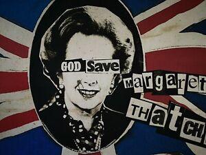 Jamie Reid & Billy Childish God Save Margaret Thatcher Rare Screen print 3/50