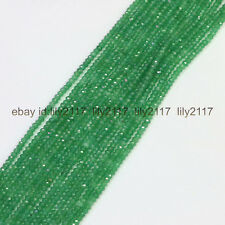 Natural Faceted 2x4mm green aventurine jade rondelle gems loose beads 15 Inches