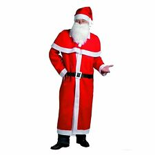 Weihnachtsmann Mantel Kostüm-Set 5-teilig Nikolauskostüm Mütze Bart Gürtel /1ex
