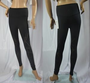 NWT Athleta $98 Size S Black Elation Lasercut 7/8 Tight Yoga Pant #566845