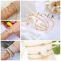 Fashion Punk Horse Shape Open Cuff Bracelet Bangle Chain Wristband Jewelry Gifts