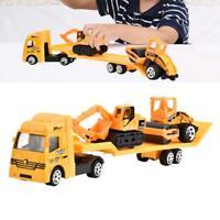 4pcs 1:64 Engineering Construction Truck Excavator Digger Car Model Kids Toys BS