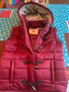 Manchester United Womens Hooded Bubble Vest size 12