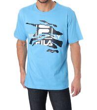 tee-shirt manches courtes FILA bleu imprimé taille L - neuf