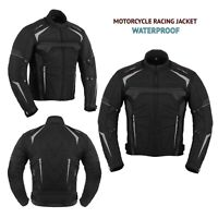 Mens Motorcycle Clothing Jacket Cordura Coat Waterproof with CE Armoured XS-7XL