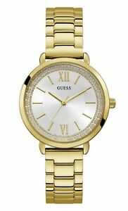 GUESS Women's Posh Quartz Watch with Stainless Steel Strap, Gold, 16 W1231L2