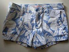 Victoria's Secret NWT Light Blue Periwinkle White Tropical Casual Shorts Sz 2