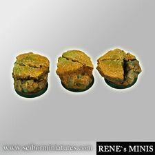 Scribor Miniatures: Royal Lions Ruins bases 25mm #2 - SMM-BRRL0088