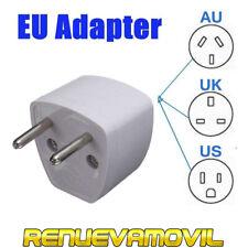 Adaptador Convertidor AU US UK a EU Plug Cargador Pared Viaje Universal Enchufe